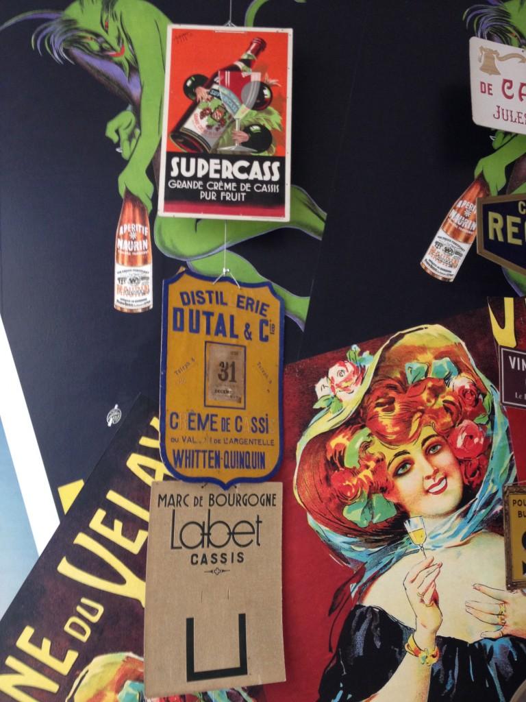 Stampe nel museo della Borgogna dedicato al Cassis.