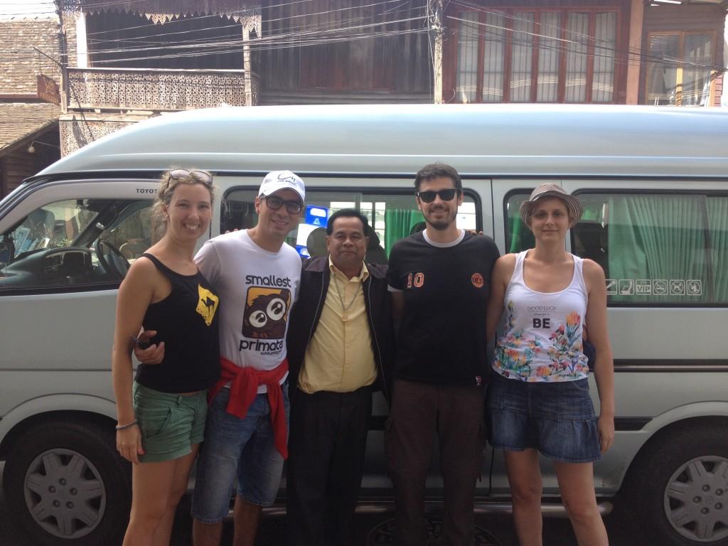 L'autista che mi ha condotto sino a Chiang Mai