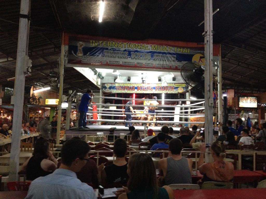 Un incontro di thai boxe.