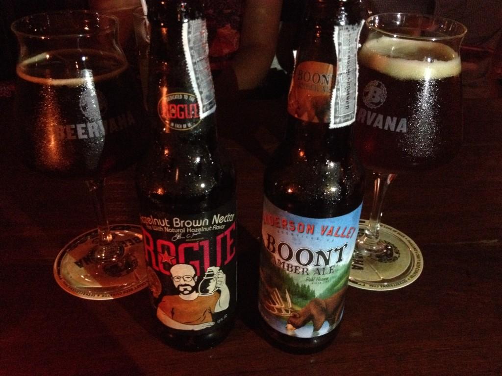 Alcune delle molteplici tipologie di birre proposte dai molti locali di Chiang Mai.
