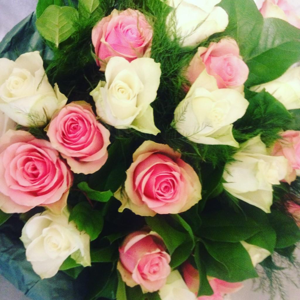 Le rose panna e fragola del negozio Bubbly, Anversa @oltreilbalcone