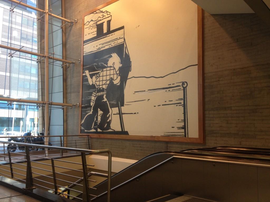 Tintin nella hall della Gare du Midi. @oltreilbalcone