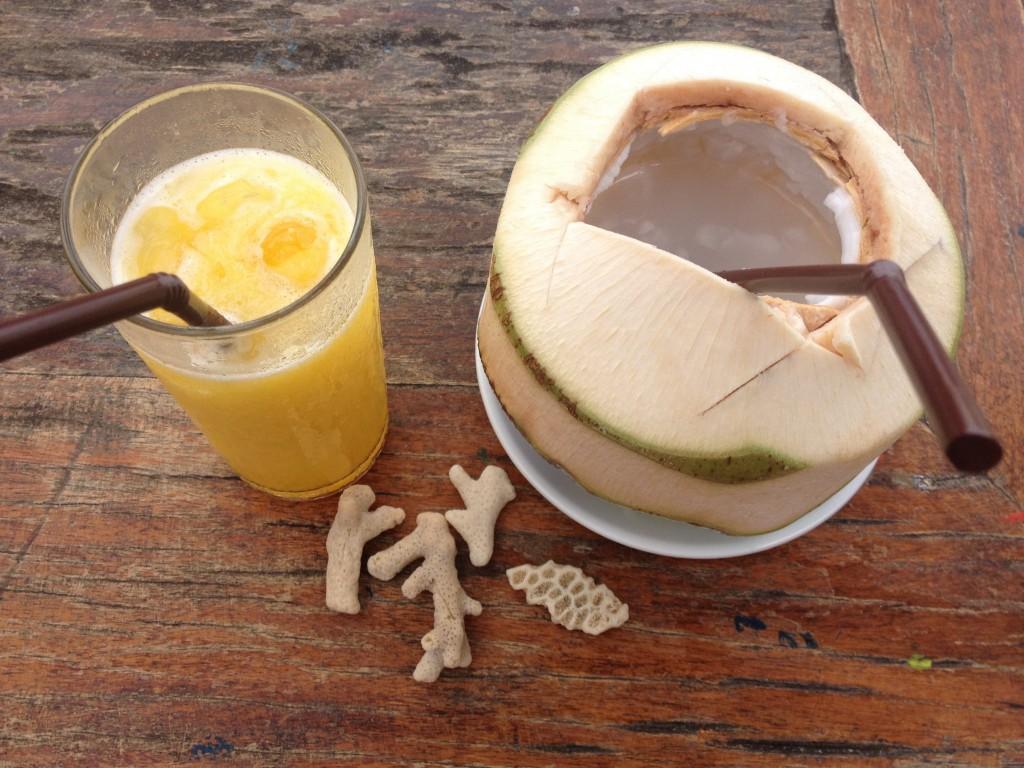 Frullato di mango e latte di cocco