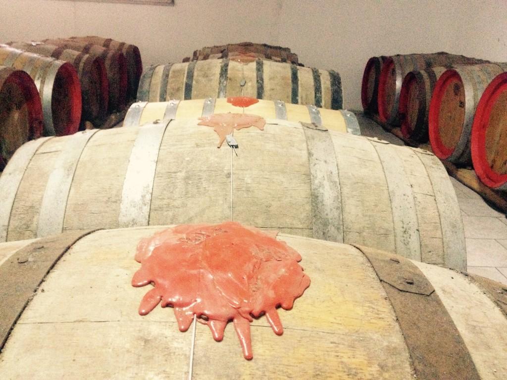 Le botti di vin santo della Fattoria Santa Maria. @oltreilbalcone