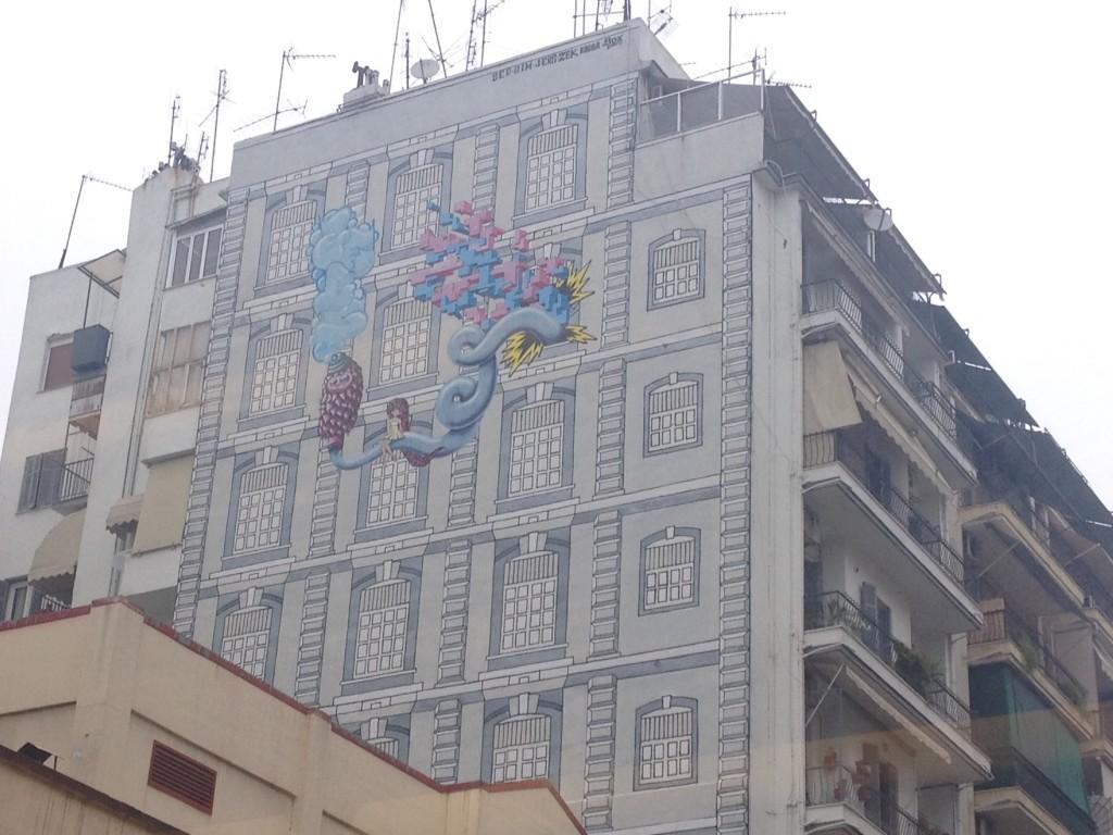 Uno dei tanti muri dipinti, Salonicco @oltreilbalcone