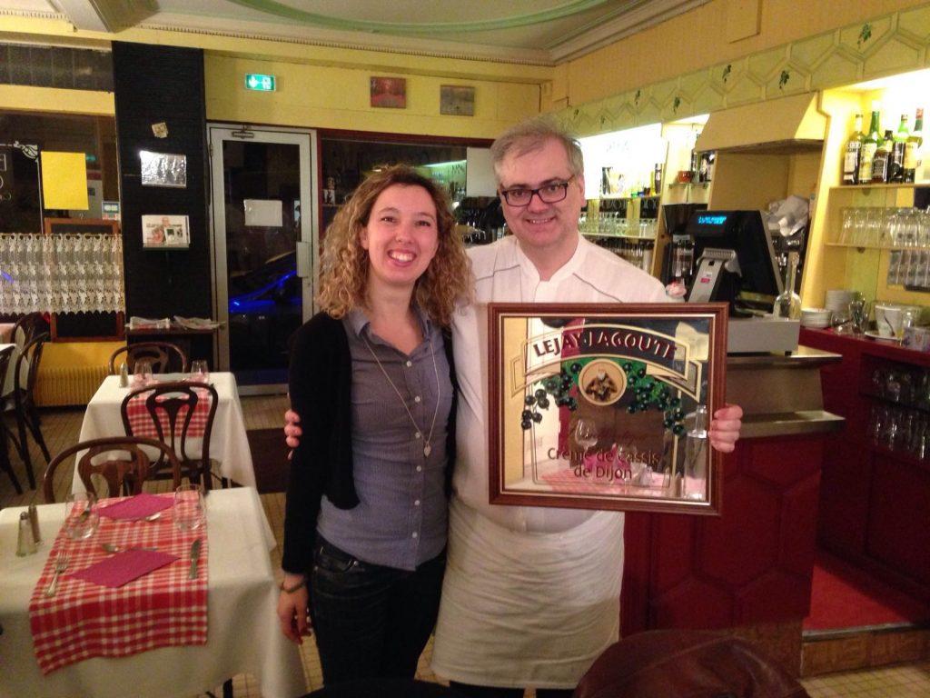 Insieme allo chef Christophe Depierre, nel ristorante Le Petit Bouchon