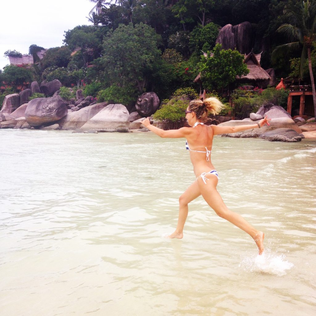 La mia irresistibile felicità entrando in mare
