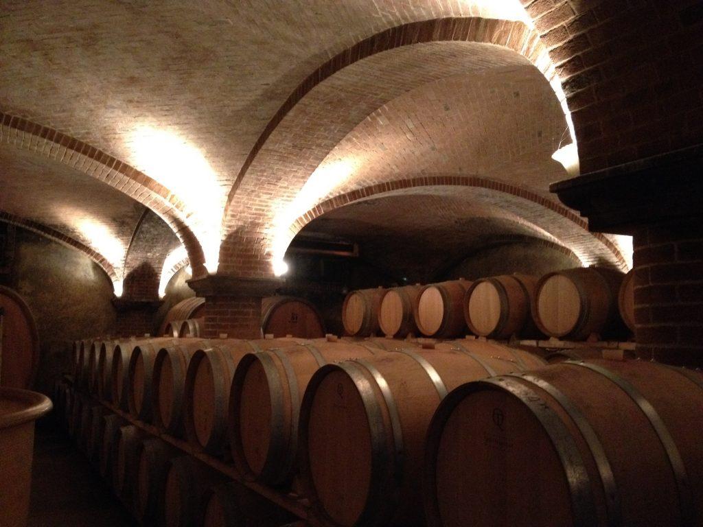 La cantina dell'azienda vinicola Matteo Correggia.