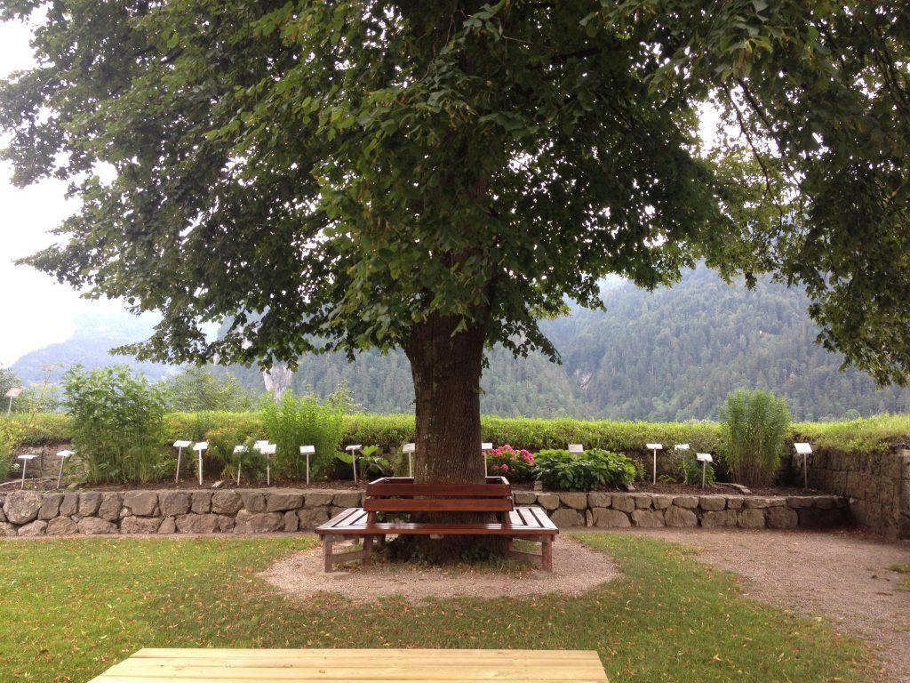 Il giardino della Fortezza di Kufstein.