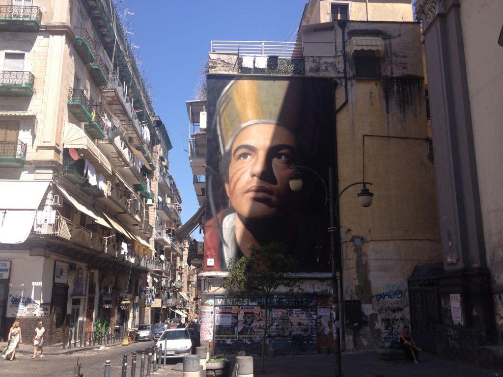 Il murales gigantesco di San Gennaro, dello street artist Jorit.