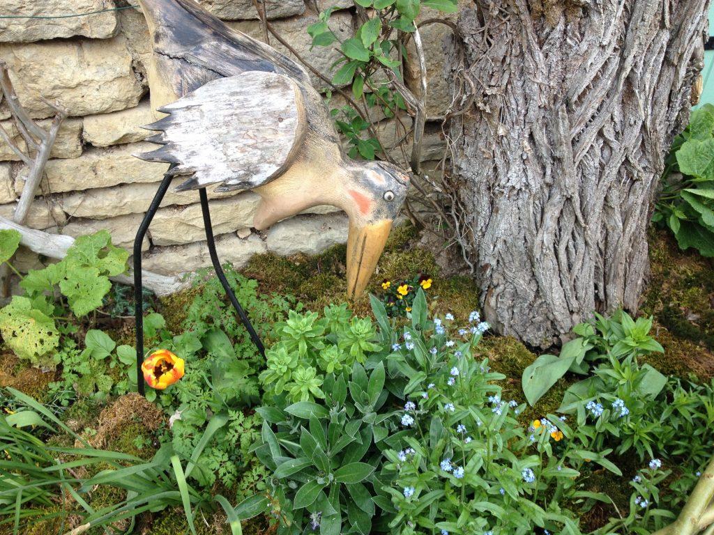 Cicogna da giardino, Châteauneuf. @oltreilbalcone