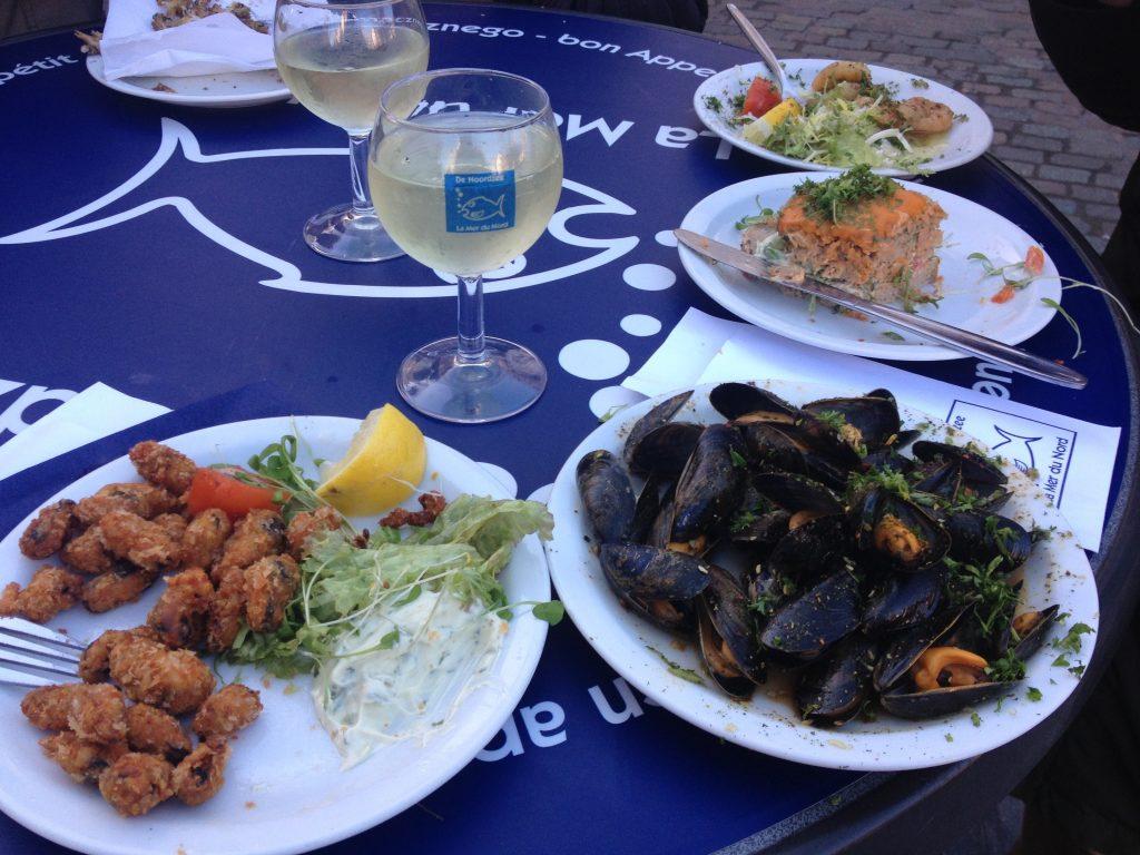 Ottima cucina di pesce da NoordZee, in rue Sainte-Catherine. @oltreilbalcone