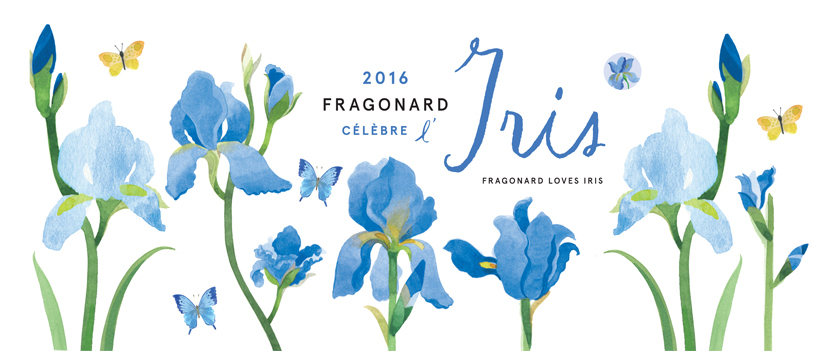 La profumeria Fragonard rende omaggio all'iris per tutto il 2016.