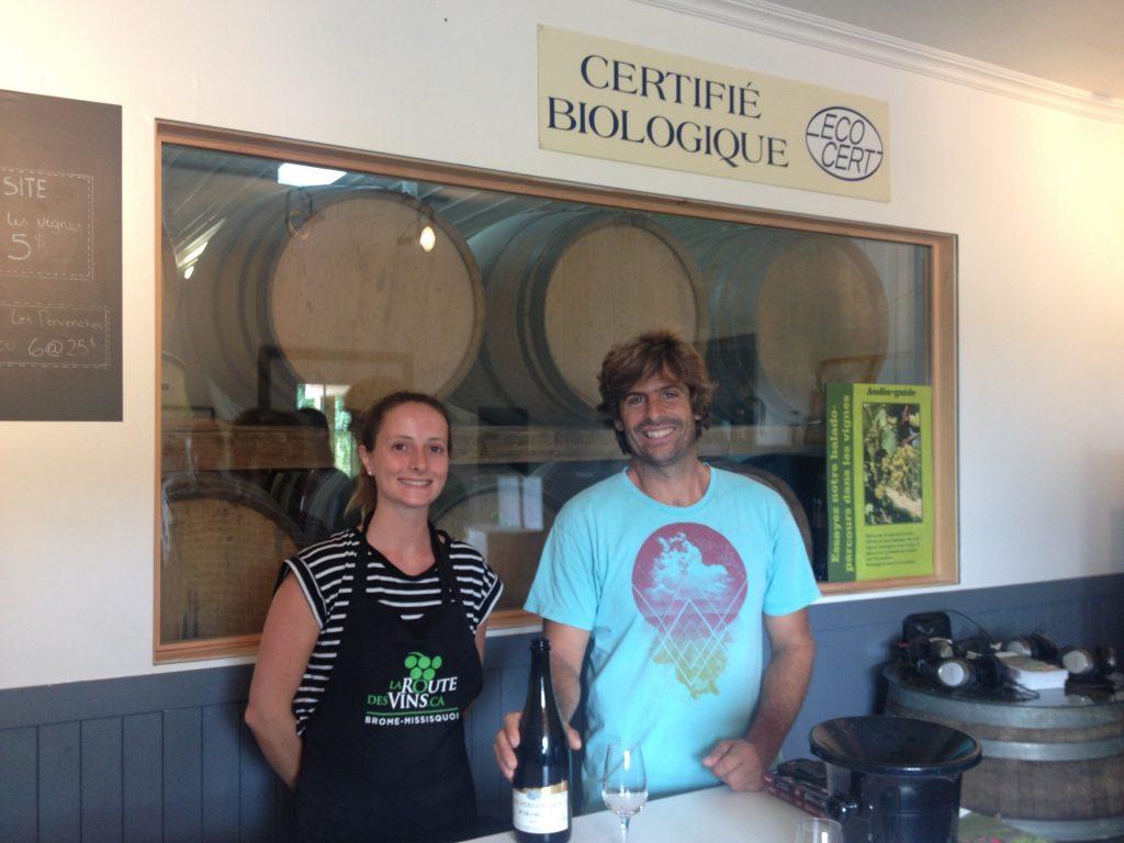 Micheal e Véronique dell'azienda vinicola Les Pervanches.