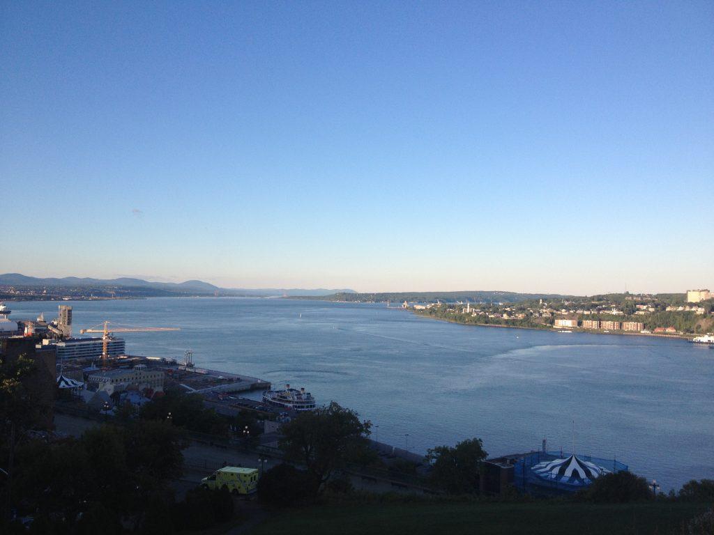 Panorama sul fiume Saint-Laurent dalla Terrasse Dufferin.