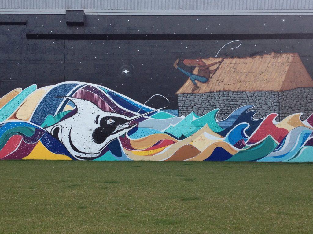 Uno dei murales del quartiere Saint-Roch.