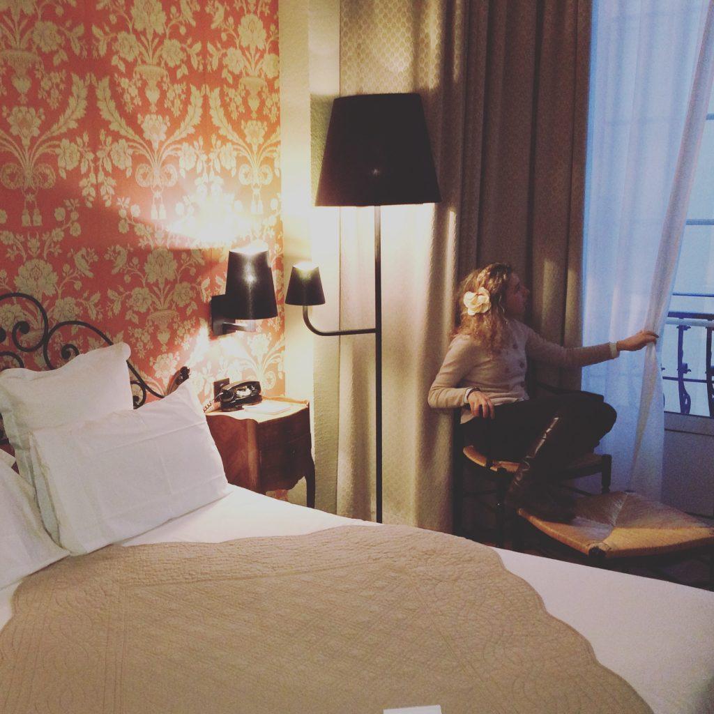 La mia camera all'hotel Le Grimald by Happy Culture di Nizza.