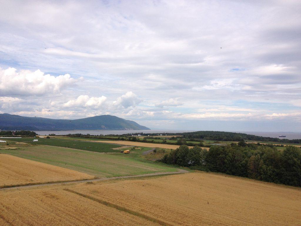 L'isola d'Orléans vista dall'alto
