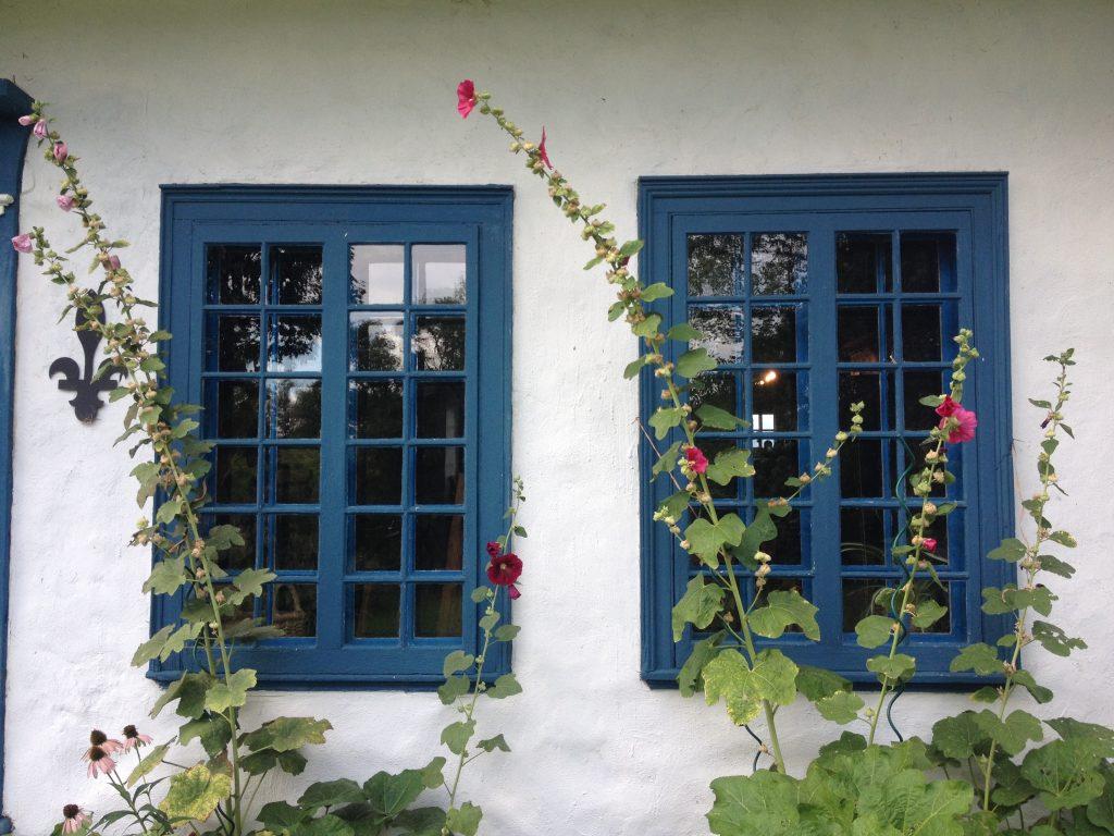 Le finestre blu della cantina Isle de Bacchus.