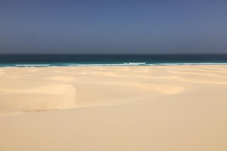 La spiaggia di dune Chaves a Boa Vista