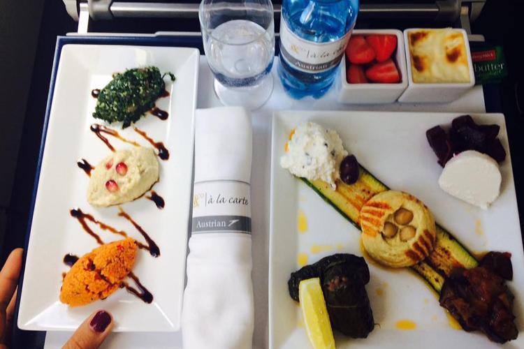 Il pasto à la carte di Austrian Airlines a base di meze cipriote