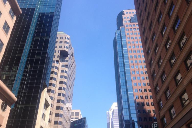 Il downtown di Montréal con i grattacieli