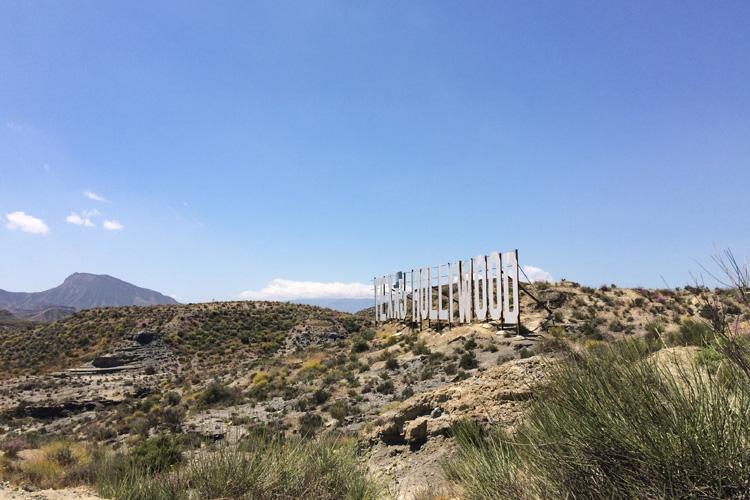 L'ingresso di uno degli studios cinematografici del Deserto di Tabernas.