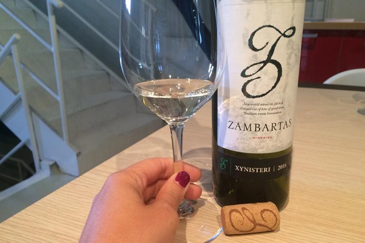 Uno dei vini degustati da Zambartas Wineries.