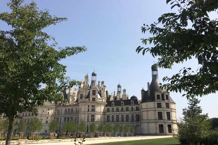 Scorcio dello Château de Chambord.
