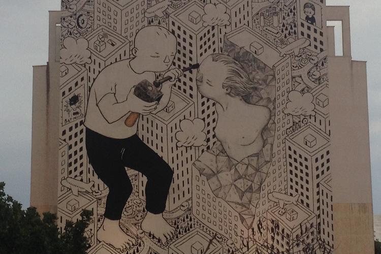 Un murales realizzato in una delle scorse edizioni di FestiWall.