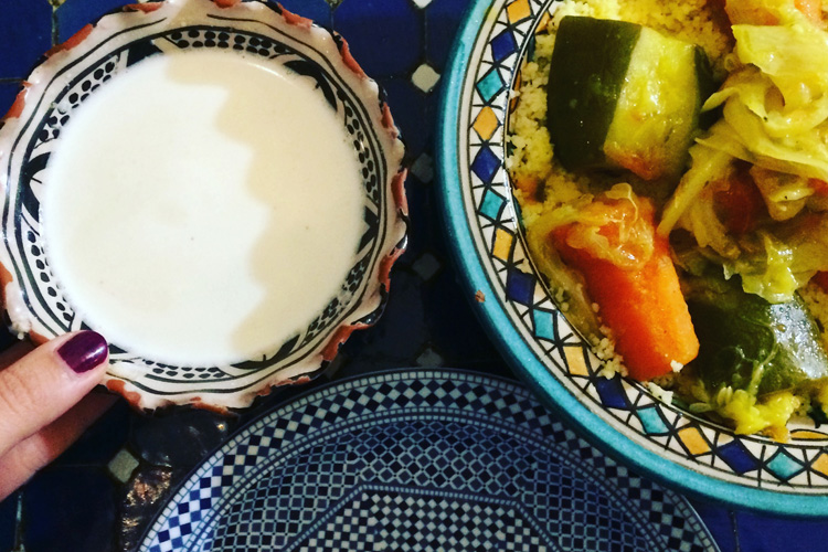 Il cus cus vegetariano della Tetería Almedina.