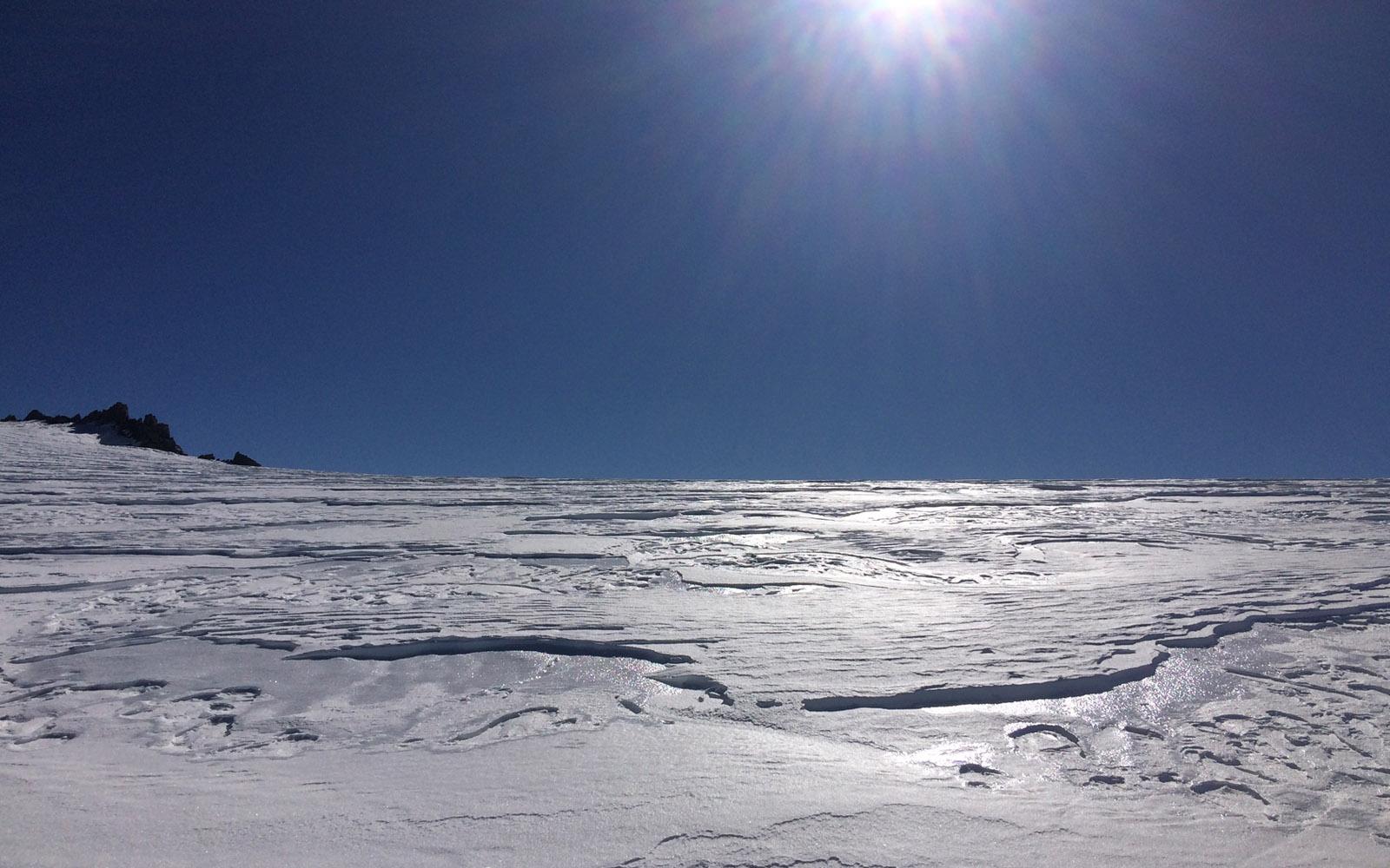 Il ghiacciaio del Monte Bianco.