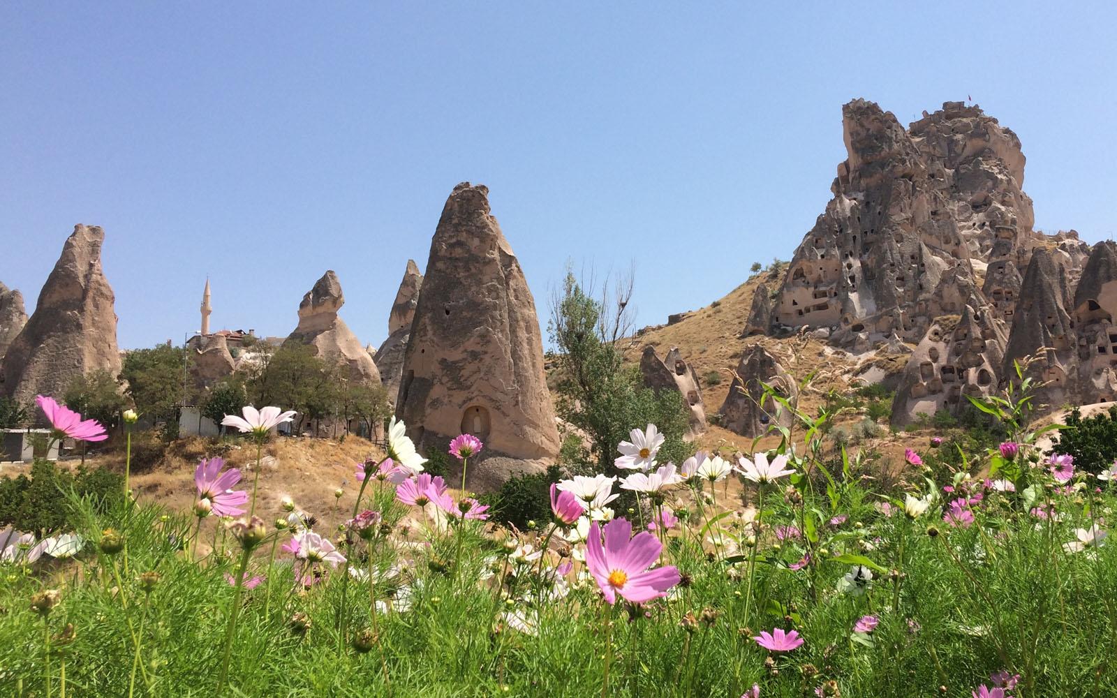 Il paesaggio fiabesco della Cappadocia.