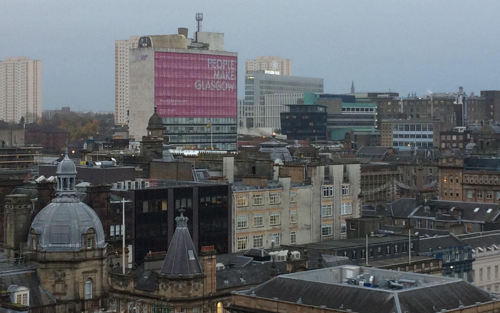 Veduta di Glasgow.