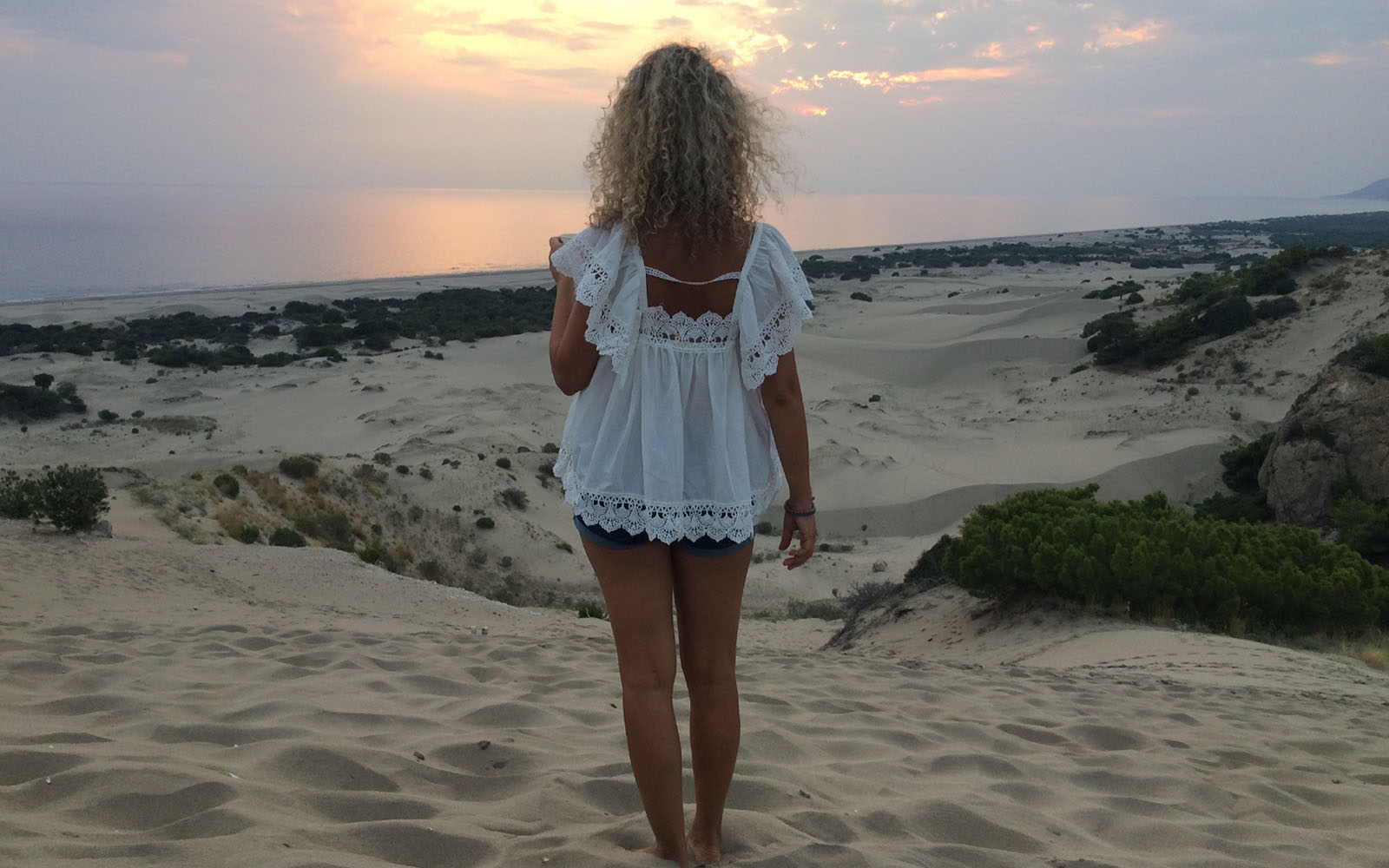 Lo spettacolo del tramonto sulle dune di Patara.