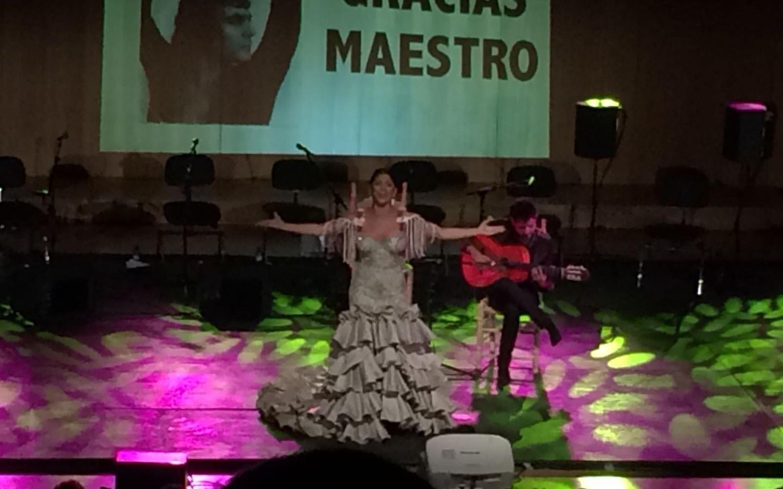 Lo spettacolo di flamenco in omaggio a Raimundo Heredia, all'Auditorio Manuel de Falla.