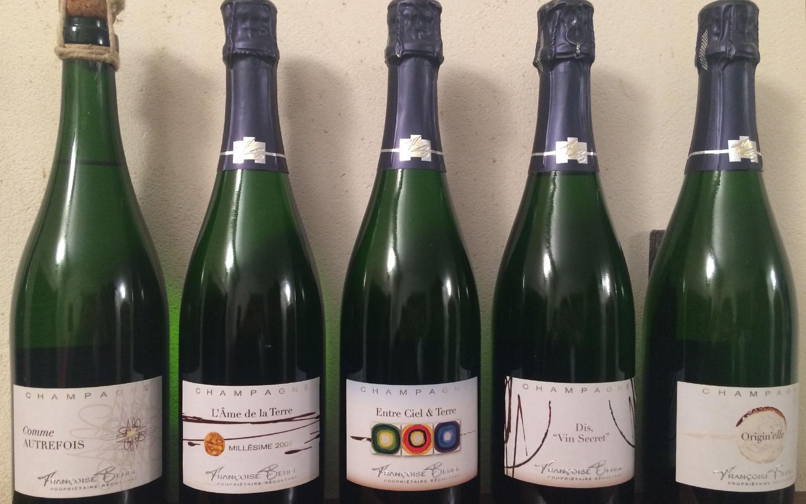 Gli Champagne degustati da Françoise Bedel.