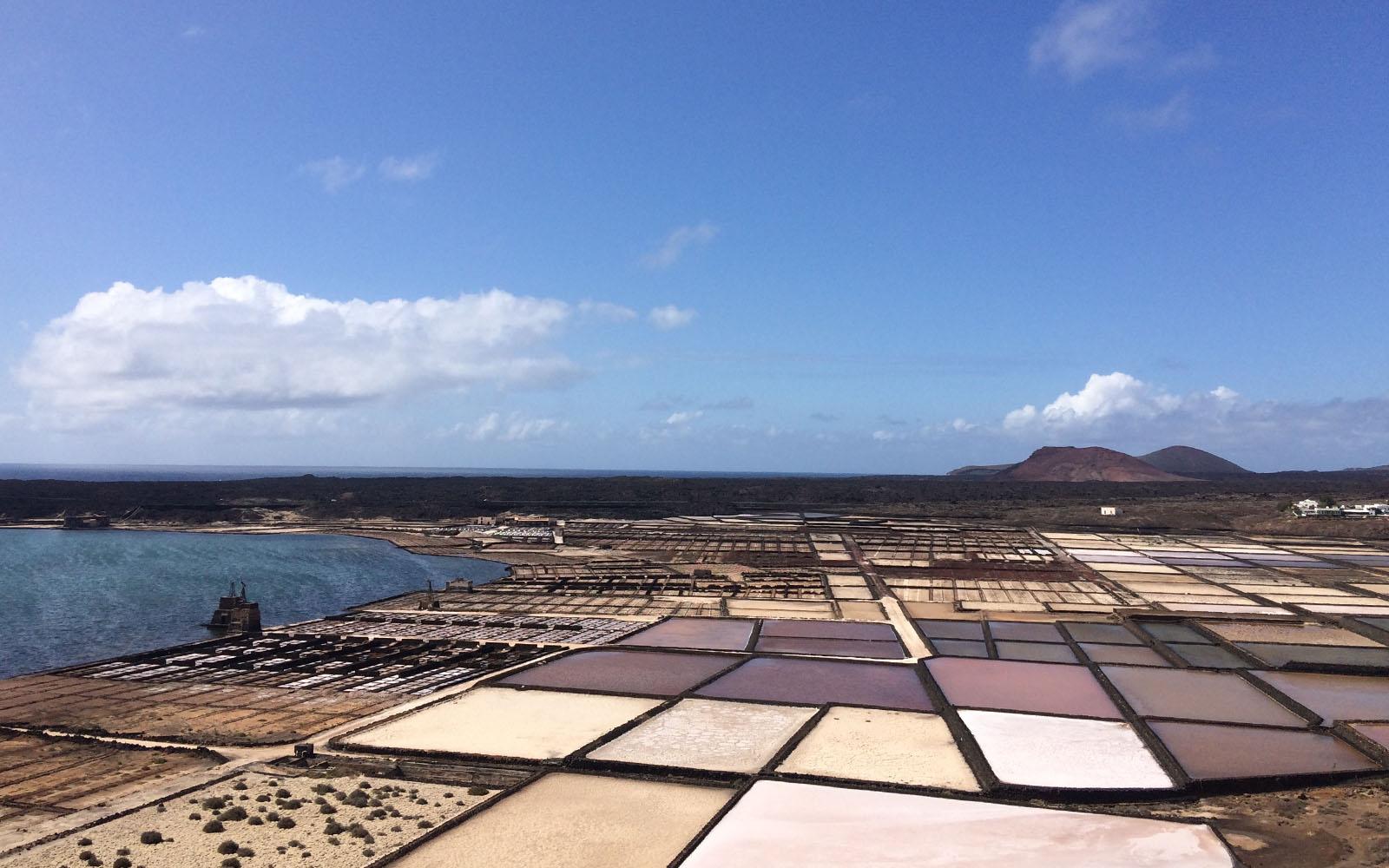 Le saline di Lanzarote, le più grandi dell'arcipelago canaro.