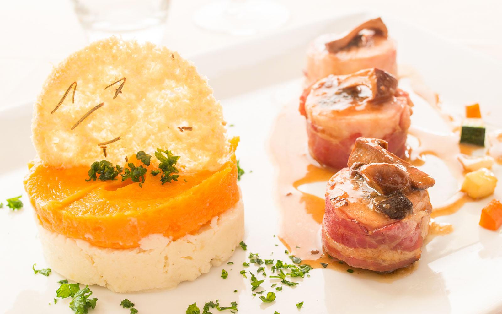 Uno dei golosi piatti cucinati dalla Chef Florance Audier.
