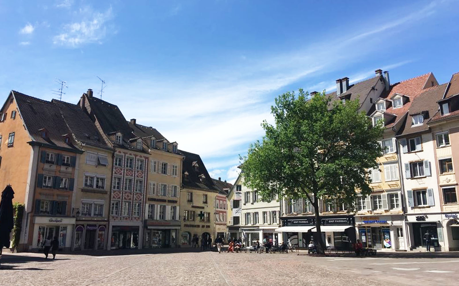 Uno scorcio di Place de la Réunion, a Mulhouse.