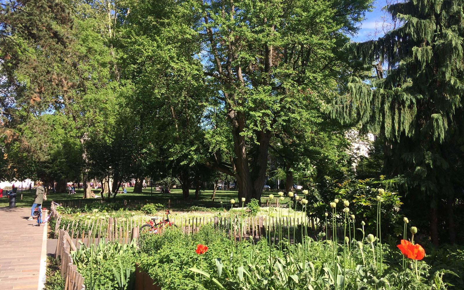 Il parco Steinbach, in centro città a Mulhouse.