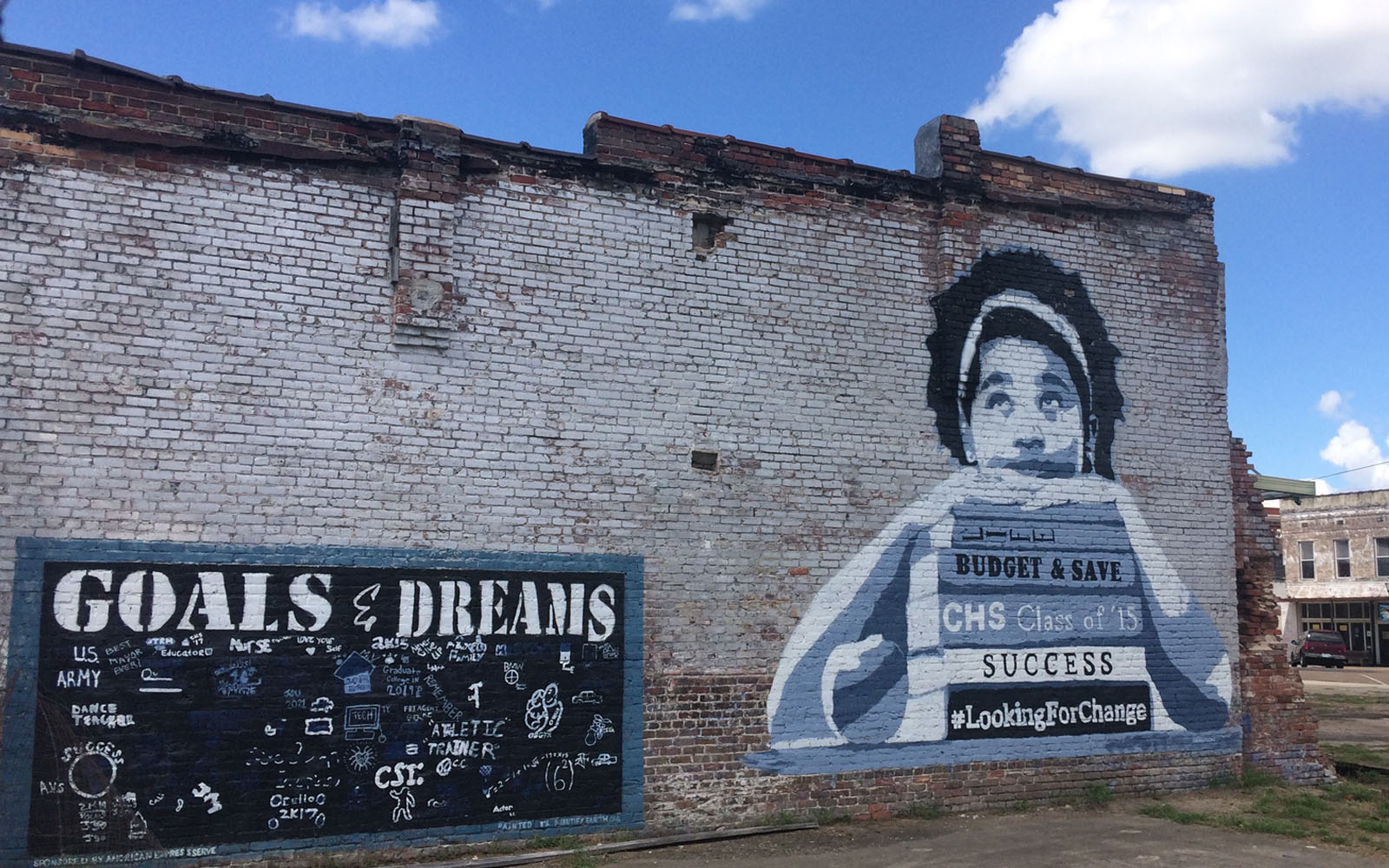 Un murale a Clarksdale.