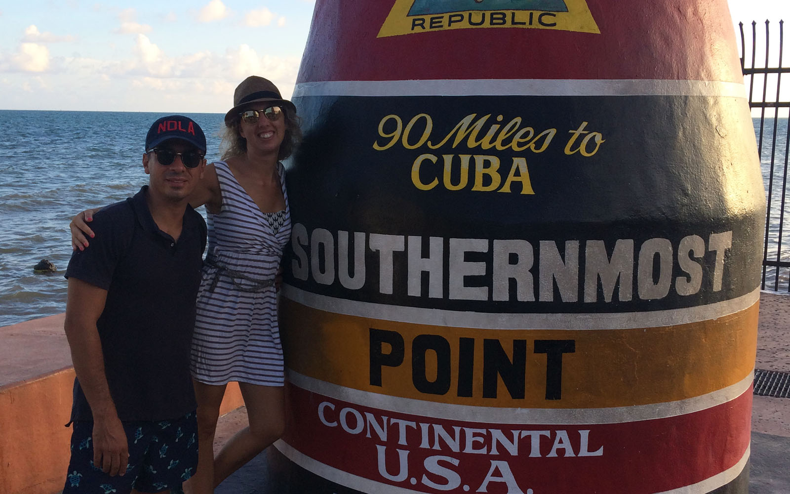 Il Southernmost Point di Key West.