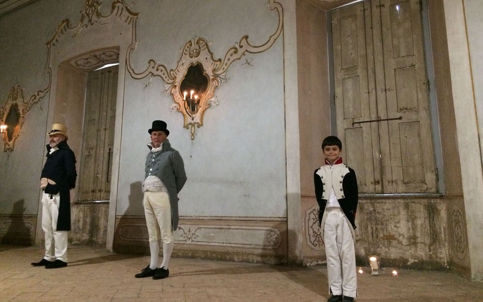 """Una sala del Piano Nobile, in occasione della """"Commedia segreta degli Arconati""""."""