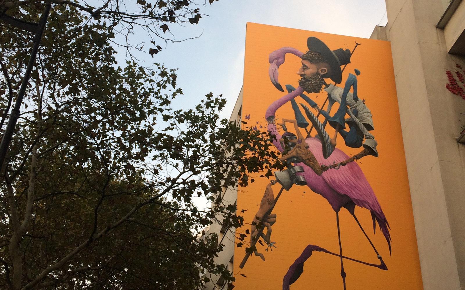Il murale dell'artista francese Maye.