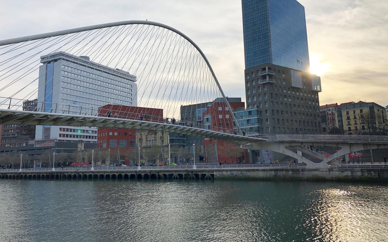 Il ponte Zibizuri, progettato da Calatrava.