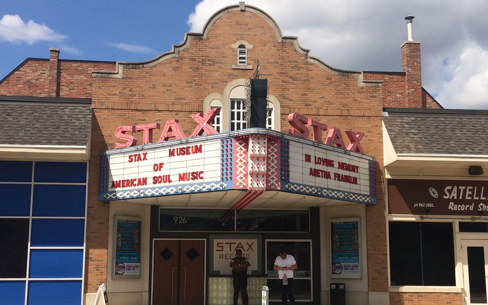 L'ingresso dello Stax Museum a Memphis.