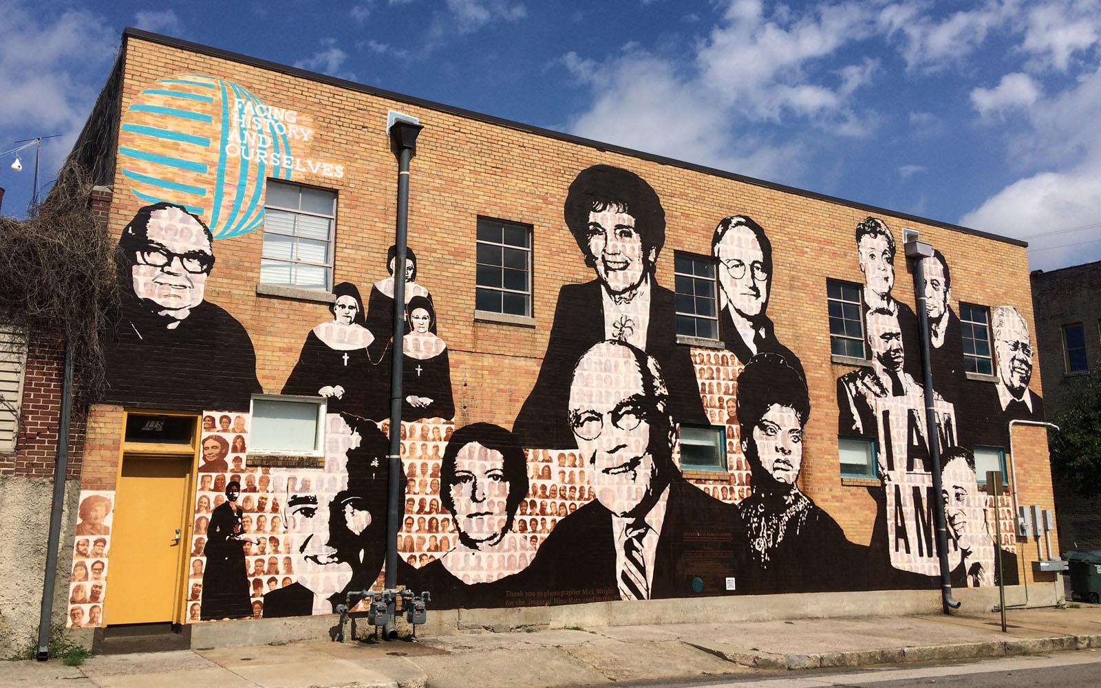 Un murales su un muro di Memphis.