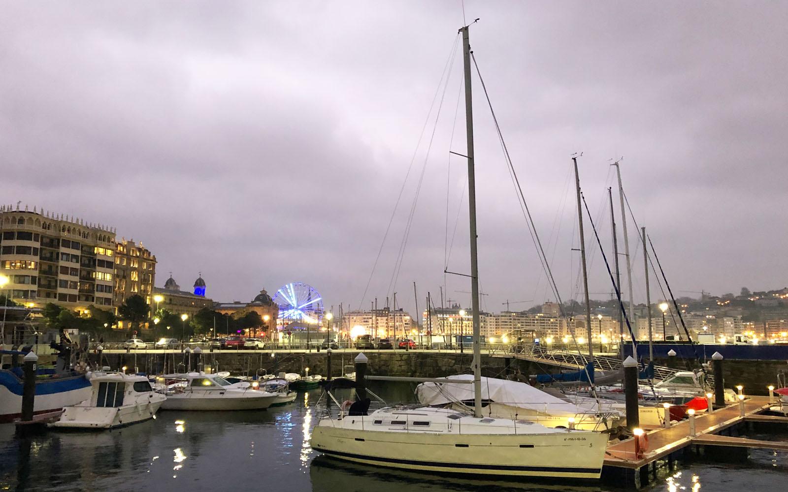 Il porto di San Sebastian.