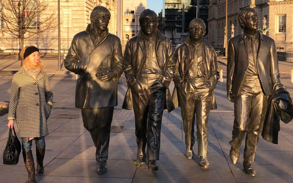 Liverpool statua Beatles